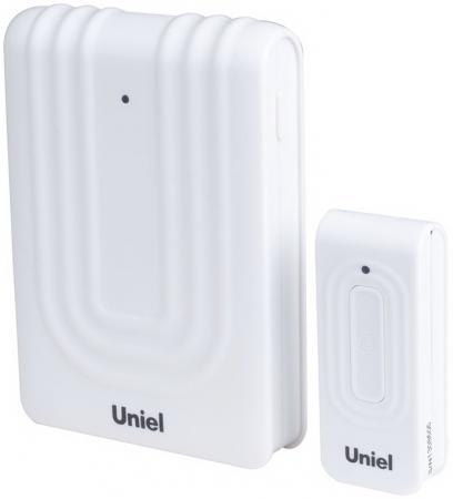 цена на Звонок дверной беспроводной Uniel белый UDB-010W-R1T1-32S-150M-WM