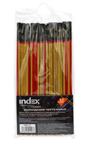 Карандаши чернографитные Index I555-12 12 шт I555-12 цены онлайн
