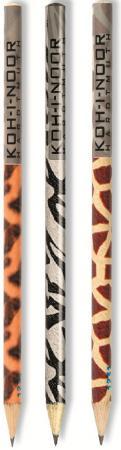 Карандаш чернографитный Koh-i-Noor LEOPARD, ZEBRA, GIRAFFE 180 мм 1271/36006 в ассортименте 1271/36006 карандаш чернографитный koh i noor sport 180 мм 1271 36001 в ассортименте 1271 36001