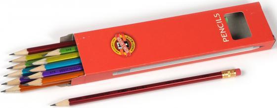 Карандаш чернографитный Koh-i-Noor Oriental 1372 160 мм в ассортименте 1372 карандаш чернографит koh i noor 1372 oriental 1372002012ksru hb шестигран ластик корпус ассорти ко