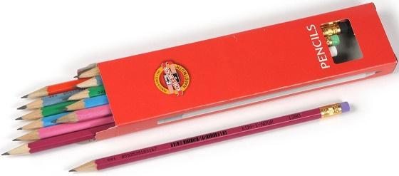 Карандаш чернографитный Koh-i-Noor Astra 1380 в ассортименте 1380 карандаш koh i noor 1380 astra нв с ластиком заточенный