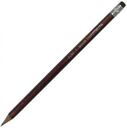 Карандаш чернографитный Koh-i-Noor 1383HB с ластиком 1383HB карандаш koh i noor 1380 astra нв с ластиком заточенный