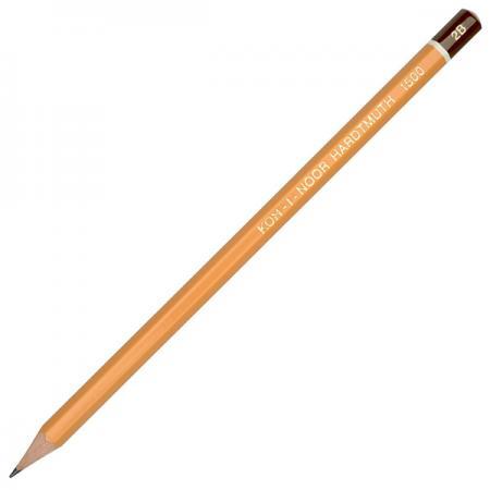 Карандаш чернографитный Koh-i-Noor 1500 2B деревянный лакированный корпус 1500 2B карандаш чернографитный koh i noor кохинор 1500 6н