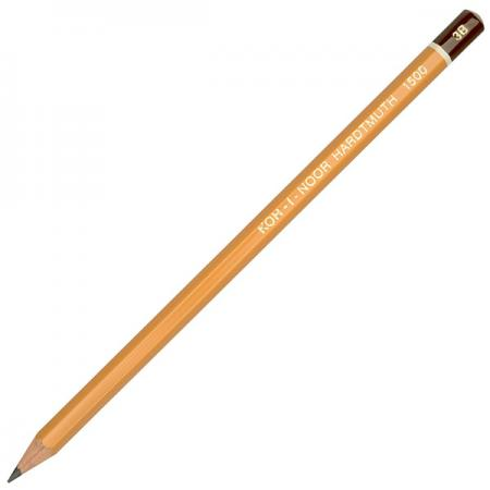 Карандаш чернографитный Koh-i-Noor 1500 3B деревянный лакированный корпус 1500 3B карандаш чернографитный koh i noor sport 180 мм 1271 36001 в ассортименте 1271 36001