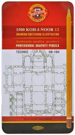 Карандаши чернографитные Koh-i-Noor Technic HB-10H 12 шт 17.5 см 1502/I 07PL 1502/I 07PL