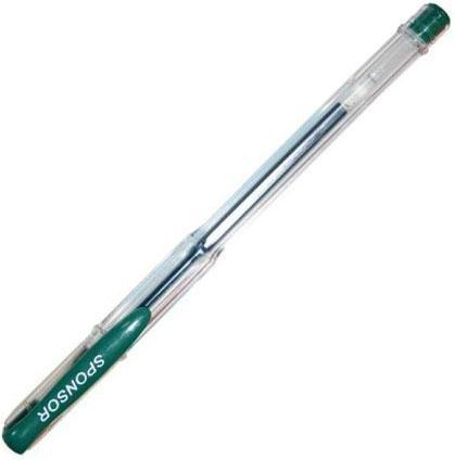 Гелевая ручка SPONSOR SGP01/GN зеленый 0.5 мм ручка гелевая zebra sarasa clip jj15 vir авт 0 5мм темно зеленый