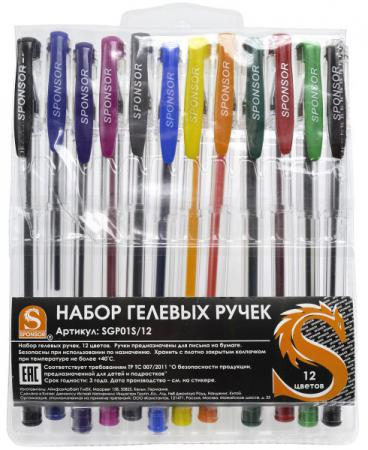 купить Набор гелевых ручек SPONSOR SGP01S/12 12 шт разноцветный SGP01S/12 дешево