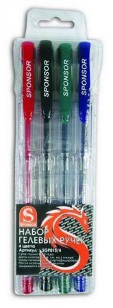 Набор гелевых ручек SPONSOR SGP01S/4 4 шт разноцветный hao yue style набор гелевых ручек 4 цвета