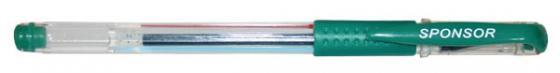 Гелевая ручка SPONSOR SGP02/GN зеленый 0.5 мм  SGP02/GN ручка гелевая zebra sarasa clip jj15 vir авт 0 5мм темно зеленый