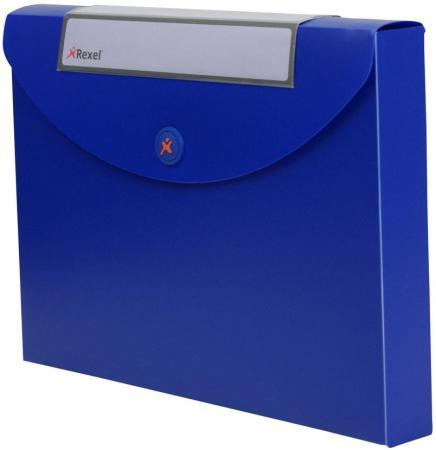 Папка Rexel Optima A4 40мм для документов пластик синий 2102482 папка конверт rexel optima a4 синий 5шт 2102478