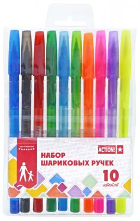Набор шариковых ручек Action! ABP1004 10 шт разноцветный ABP1004 цена
