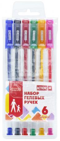 цена на Набор гелевых ручек Action! AGP0601 6 шт разноцветный