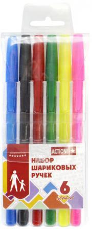 Набор шариковых ручек Action! ABP0604 6 шт разноцветный ABP0604 цена