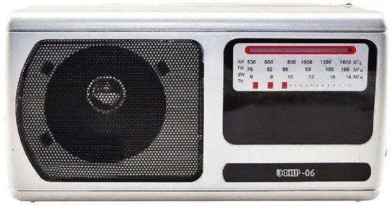 цена на Радиоприемник Сигнал Эфир-06 серебристый