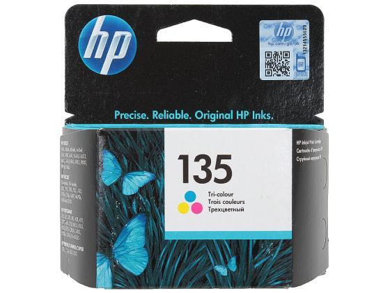 Картридж HP C8766HE №135 для DJ5743 6843 OfficeJet6213 7413 PhotoSmart2713 8453 цветной картридж hp c8767he 130 черный dj5743 6843 officejet7413 photosmart2713 8453