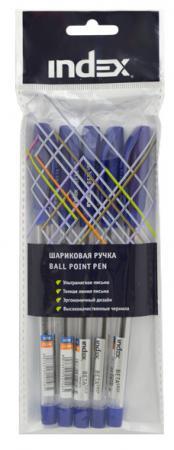 Набор шариковых ручек Index IBP318S/5 5 шт синий 0.7 мм 3m 318 1005 руб свободных от пены затычки с установкой 5 оплаты линии