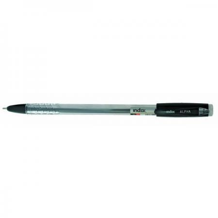 Шариковая ручка Index ALPHA черный 0.7 мм IBP315/BK фартук детский люблю готовить синий