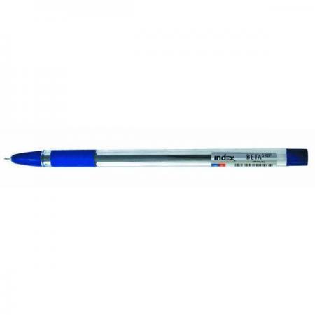 Шариковая ручка Index BETA GRIP синий 0.7 мм IBP348/BU шариковая ручка index alpha grip синий 0 7 мм ibp306 bu ibp306 bu