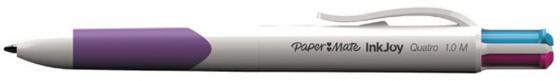 Шариковая ручка автоматическая Paper Mate QUATRO синий красный черный зеленый 97716