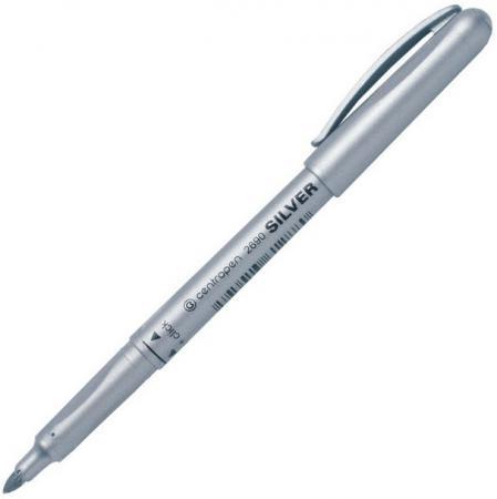 Маркер перманентный Centropen 2690/1СЕР 3 мм серебристый 2690/1СЕР маркер флуоресцентный centropen 8722 1о оранжевый 8722 1о