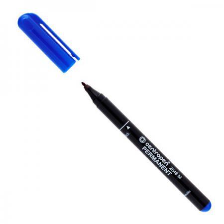 Маркер перманентный Centropen 2846/1С 1 мм синий 2846/1С маркер флуоресцентный centropen 8722 1о оранжевый 8722 1о