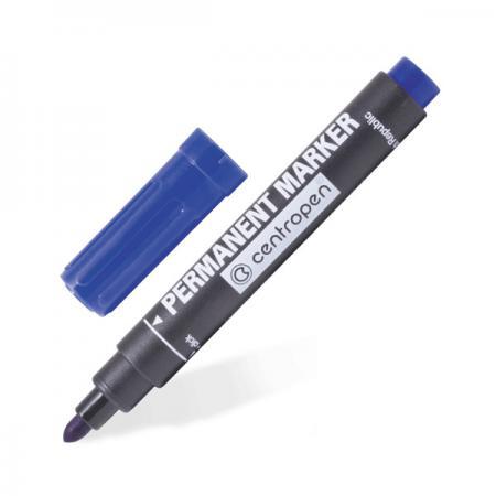 Маркер перманентный Centropen 8510/С 2.5 мм синий 8510/С маркер флуоресцентный centropen 8722 1о оранжевый 8722 1о