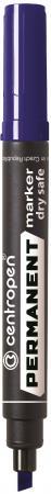 Маркер перманентный Centropen 8516/С 2.5 мм синий 8516/С маркер для доски centropen 8569 1ч 4 6 мм черный