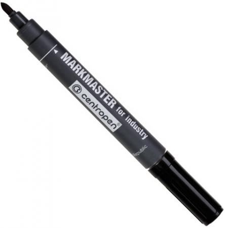 Маркер перманентный Centropen Markmaster 1.5 мм черный 8599/1Ч маркер флуоресцентный centropen 8722 1о оранжевый 8722 1о