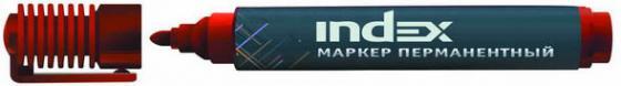 Маркер перманентный Index IMP555/RD 4 мм красный маркер перманентный index imp555 bu 4 мм синий