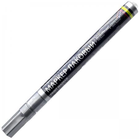 Маркер лаковый Index IPM101/SL 2 мм серебристый  IPM101/SL маркер лаковый index ipm101 bk 2 мм черный
