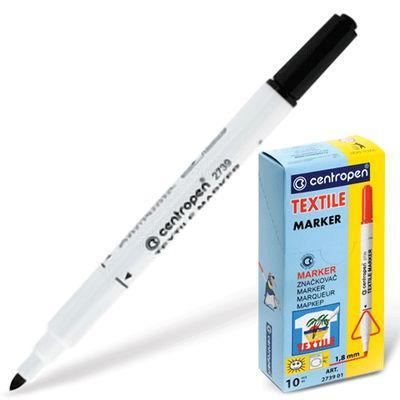 Фломастер Centropen 2739/1Ч 1,8 мм черный маркер для доски centropen 8569 1ч 4 6 мм черный