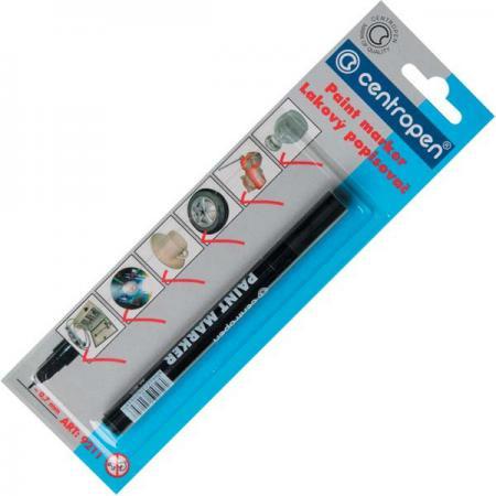 Маркер лаковый Centropen 9211/Ч 0.7 мм черный маркер флуоресцентный centropen 8722 1о оранжевый 8722 1о