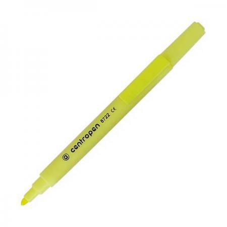Маркер флуоресцентный Centropen 8722/1Ж желтый маркер флуоресцентный centropen 8722 1к красный 8722 1к