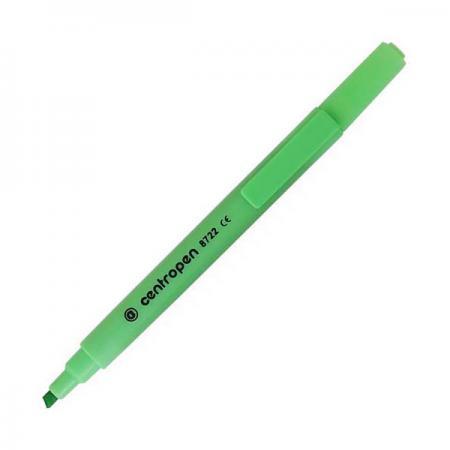 Маркер флуоресцентный Centropen 8722/1З зеленый маркер флуоресцентный centropen 8722 1ф фиолетовый