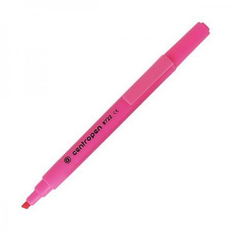 Маркер флуоресцентный Centropen 8722/1Р розовый маркер флуоресцентный centropen 8722 1о оранжевый 8722 1о