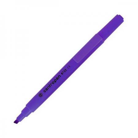 Маркер флуоресцентный Centropen 8722/1Ф фиолетовый маркер флуоресцентный centropen 8722 1к красный