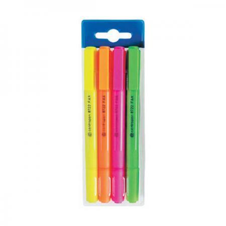 Набор маркеров флуоресцентных Centropen 8722/4PVC 4 шт разноцветный маркер флуоресцентный centropen 8722 1о оранжевый 8722 1о