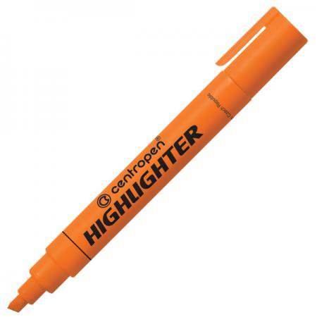 Маркер флуоресцентный Centropen 8852/1О оранжевый 8852/1О маркер для доски centropen клиновидный наконечник оранжевый 8569 1о