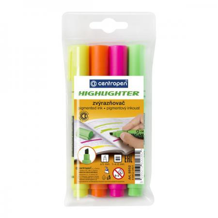 цена на Набор маркеров флуоресцентных Centropen 8852/4PVC 4.6 мм 4 шт разноцветный