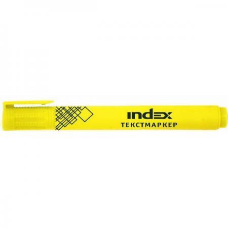 Текстмаркер Index IMH510/YL желтый дырокол index fusion 30 листов ifp730gn yl ifp730gn yl