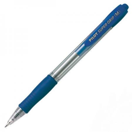 Шариковая ручка автоматическая Pilot SUPERGRIP синий 1 мм BPGP-10R-M-L ручка шариковая pilot bps gp fine синяя 0 7 мм
