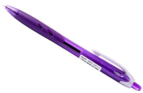 цена Шариковая ручка автоматическая Pilot REXGRIP фиолетовый 0.7 мм BPRG-10R-F-V онлайн в 2017 году