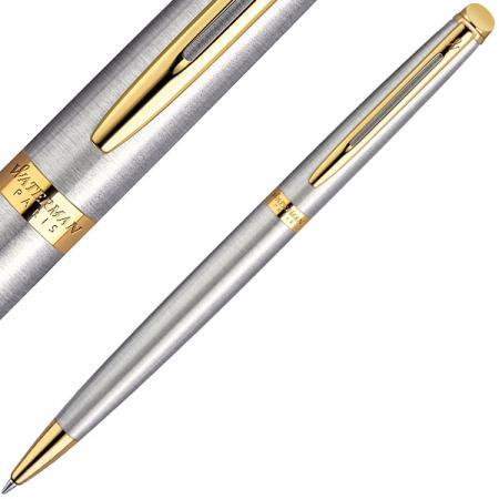 Шариковая ручка поворотная Waterman HEMISPHERE ESSENTIAL Stainless Steel GT синий золотые детали, М WAT-S0920370 цена и фото
