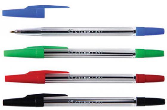 Набор шариковых ручек СТАММ РК07 4 шт разноцветный 1 мм РК07 набор фломастеров стамм веселые игрушки 1 мм 6 шт разноцветный фв02
