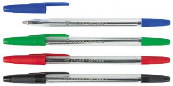 Набор шариковых ручек СТАММ РО07 4 шт разноцветный 1 мм РО07 набор фломастеров стамм веселые игрушки 1 мм 6 шт разноцветный фв02