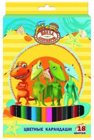 Набор цветных карандашей Action! Поезд Динозавров 18 шт DT-ACP105-18 DT-ACP105-18 набор цветных карандашей action discovery 18 шт dv acp105 18