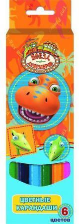 Набор цветных карандашей Action! Поезд Динозавров 6 шт утолщенные DT-ACP115-6 DT-ACP115-6 набор цветных карандашей action поезд динозавров 18 шт dt acp105 18 dt acp105 18