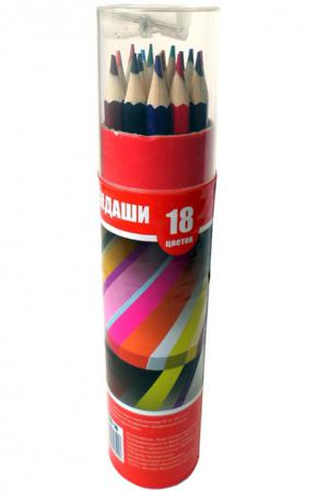 Набор цветных карандашей Action! ACP103-18 18 шт ACP103-18 набор цветных карандашей action hello kitty 18 шт