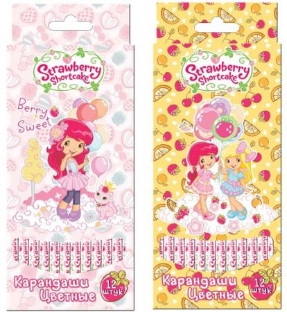 Набор цветных карандашей Action! Strawberry Shortcake 12 шт SW-ACP205-12 SW-ACP205-12 цена и фото