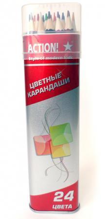 Набор цветных карандашей Action! ACP303-24 24 шт ACP303-24 elasun 24